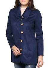 Stylish Navy Blue Coat - L'elegantae