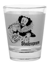Natural And Black Shakespeare Shot Glasses- Set Of 2 - EK DO DHAI