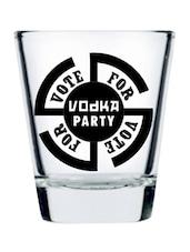 Natural And Black Vote For Vodka Shot Glass- Set Of 2 - EK DO DHAI