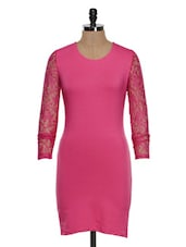 Rose Pink Bodycon Dress - STREET 9