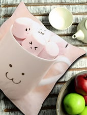 Cute Marshmallows In Cup Cushion Cover - Stybuzz