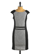 Flocked Check Monochrome Dress - Collezioni Moda