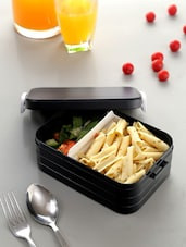 Black Lunch Box With Side Locks - By