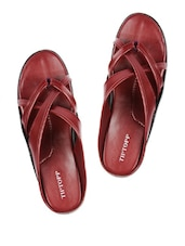 Cherry Criss-Crossed Slippers - Tiptop