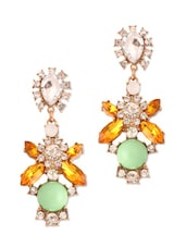 Multicoloured Stone Studded Earrings - Style Fiesta