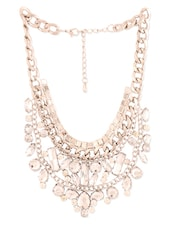 Silver Crystal Embellished Necklace - Style Fiesta