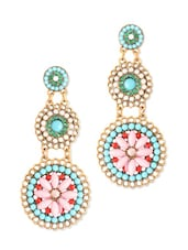 Multicoloured Beaded Long Earrings - Style Fiesta