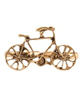 Antique Gold Bicycle Ring - Style Fiesta