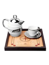 Carrom Board Design Serving Tray - Happily Unmarried
