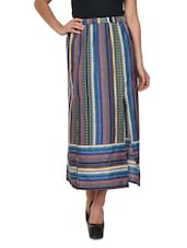 Stylish Blue Striped Skirt - Yepme