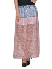 Stylish Animal Print Sheer Skirt - Yepme