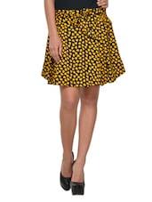 Fabulous Black And Yellow Mini Skirt - Yepme