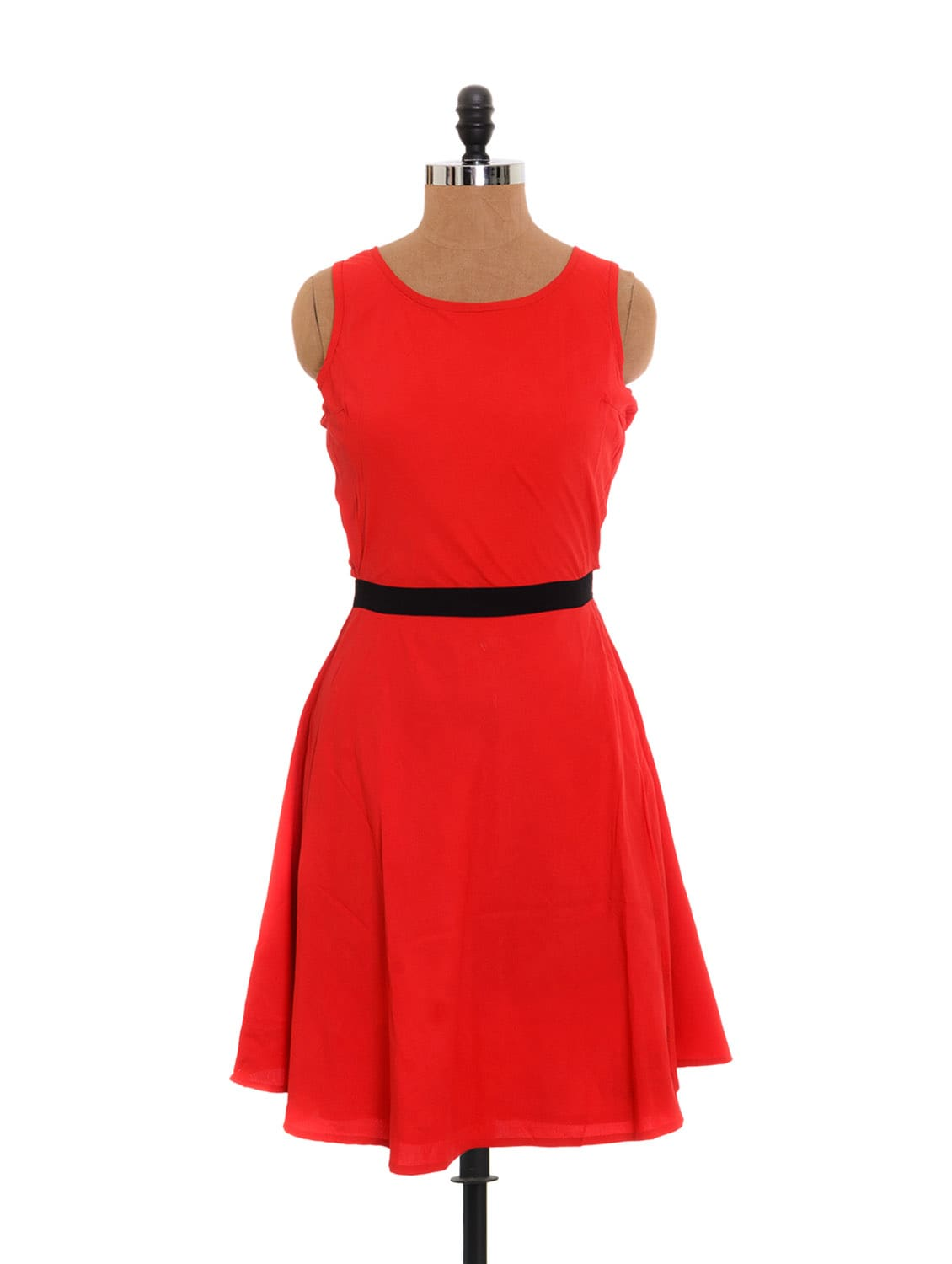 Red Dress With An Interesting Back - Xniva