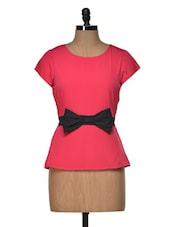 Pink  Bow Top - Popnetic