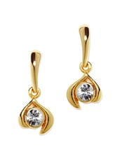 Gold Plated Drop Earrings - Estelle