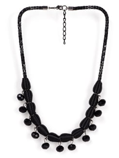Black Beaded Necklace - Tribal Zone