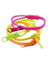 Fancy Zipper Bracelet (Set Of 5) - Cool Trends