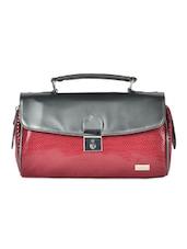 Red And Grey Handbag - YELLOE