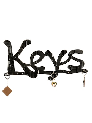 Black Wooden Wall Hanging Key Holder - online shopping for Furniture