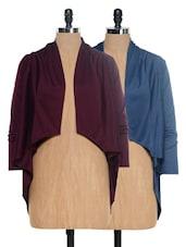 Blue And Burgundy Shrug Set - @ 499