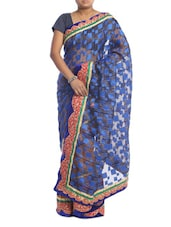 Royal Blue Art Silk Saree - Saraswati