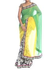 Multi Print Georgette Saree - Saraswati