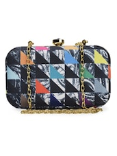 Chic Silk Triad Box Clutch - ARTychoke