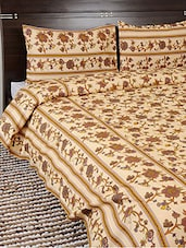 Multi-coloured Double Bed Sheet With Two Pillow Cover - Looms Of India