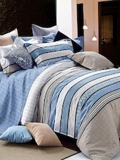 Blue Double Bedsheet With Pillow Cover - Bianca