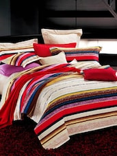 Multi-colored Double Bedsheet With Pillow Cover - Bianca
