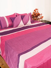 Pink And Purple Bed Cover Set Of Five - Bianca