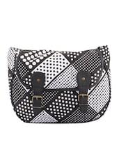 Monochrome Polka-Dot Cross Body Bag - Art Forte