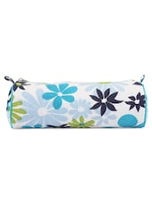 Blue And White Floral Pencil Bag - Art Forte