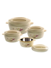 swirl printed Casseroles Set ( 3 pieces ) -  online shopping for Casseroles