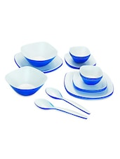Blue Food Grade Plastic   Sizzle Dinner Set  Set Of  22 - Cello