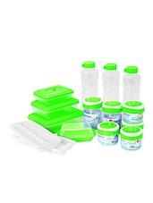 Green Food Grade Plastic  Fridge Kit Set  Set Of  15 - Cello