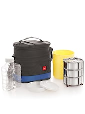 Black Stainless Steel Container/Food Grade Plastic Container/ Thermal Bag Insulated NsuLunch Carrier - Cello