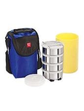 Blue  Stainless Steel Body And Insulated  Lunch Packs - By