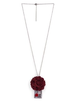 Red Heart Rose Necklace - Tribal Zone