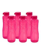 Pink Polypropylene Water Bottle Set Of  6 - Cello - 938909