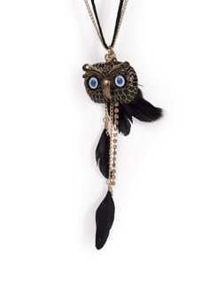 Owl Pendant Necklace - Tribal Zone