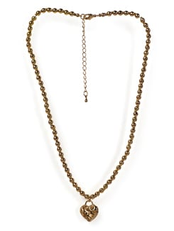 Golden Chain With Heart Pendant - Tribal Zone