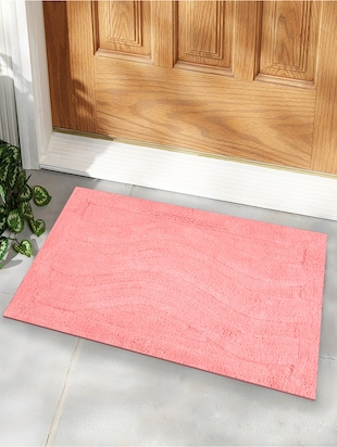 Pink triple wave Bath Rug