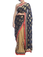 Gold And Black Saree - Suchi Fashion