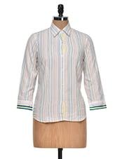 Colourful Striped Shirt - DAZZIO