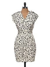 Black And White Printed Dress - Queens