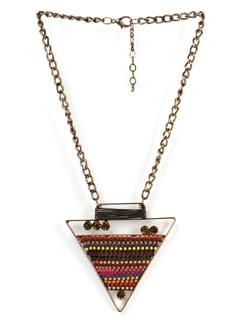 Triangular Pendant Necklace - Tribal Zone