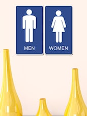 Male/Female Restroom PVC Wall Sticker - 999store