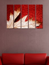 Printed Autumn Leaf Wall Art Painting - 5 Pieces - 999store