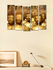 Printed Buddha Modern Wall Art Painting - 5 Pieces - 999store - 941353